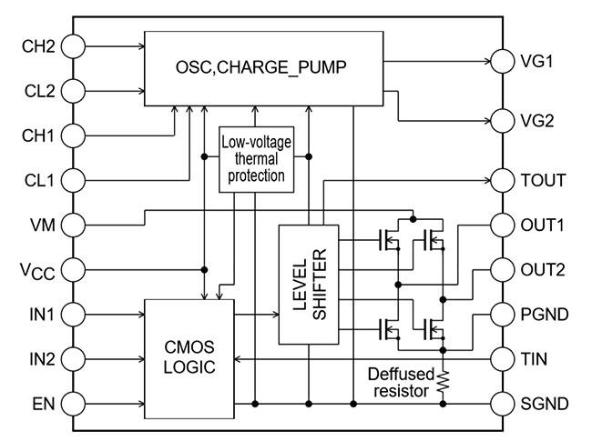 Структурная схема LV8013T