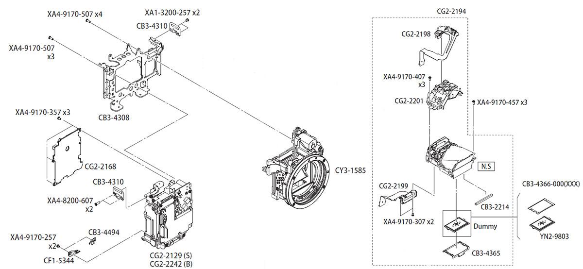 Устройство Canon EOS 450D, блок зеркала и другие запчасти в AS incommerce.ru