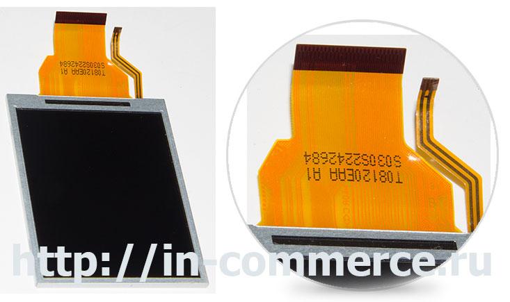 Внешний вид дисплея для компактных цифровых фотоаппаратов Nikon L810, Nikon P310, Nikon S9200, Nikon S9300.