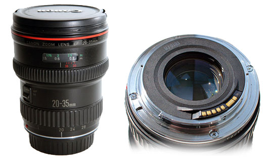 Конструкция и каталог запчастей для объектива Canon EF 20-35mm