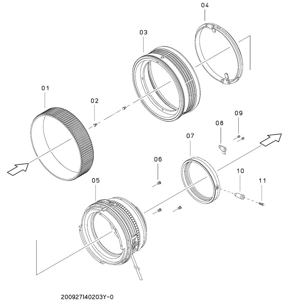 Конструкция объектива Sigma 12-24mm PARTS NO деталей и наличие в интернет-магазине