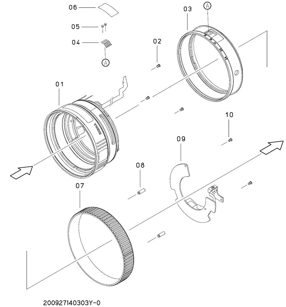 Партнабер запчастей объектива Sigma 12-24mm и их наличие