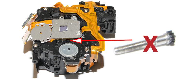 Комплект запасных частей для ремонта объективов Canon Ixus 850, Canon Ixus 860