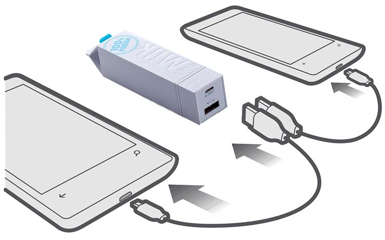 Автономная зарядка планшета и смартфона