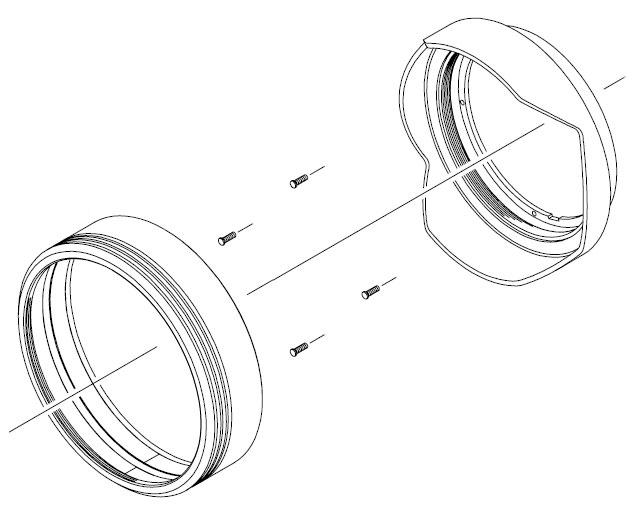 Фото бленды с кольцом для объектива Sigma 12-24mm F/4.5-5.6 согласно технической документации