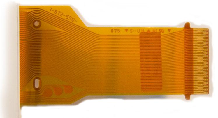 Внешний вид шлейфа 1-872-550 дисплея для фотокамеры Sony DSC W55