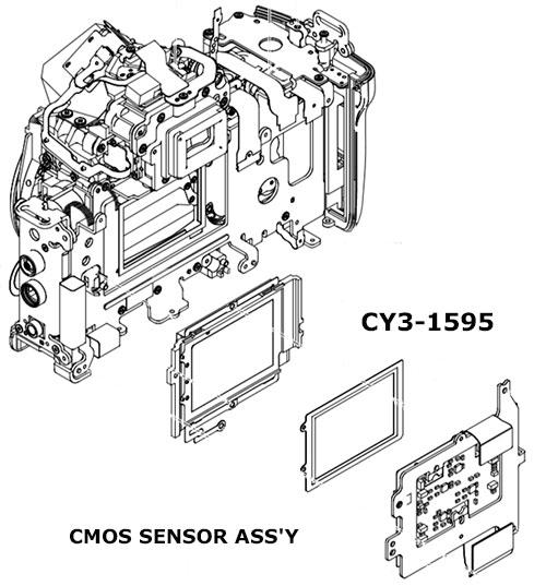 Сенсор изображения CY3-1595 для Canon 5d mark 2 купить в интернет магазине AS in-commerce.ru