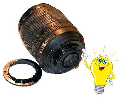 Пластмассовое кольцо крепления объектива Nikon к фотоаппарату
