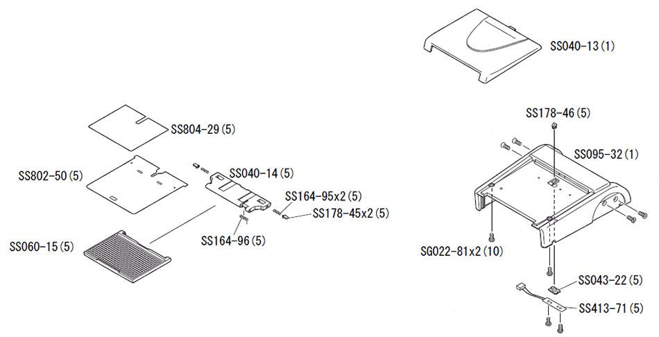 Широкоугольный рассеиватель для фотовспышки Nikon Speedlight SB-800 в сборе с указанием номера запчасти согласно документации