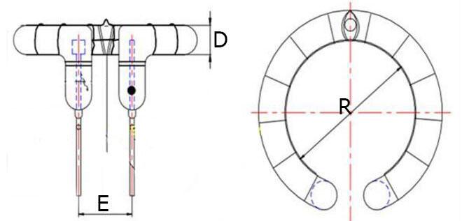 Физические размеры импульсной лампы 1000 Дж для студийных фотовспышек