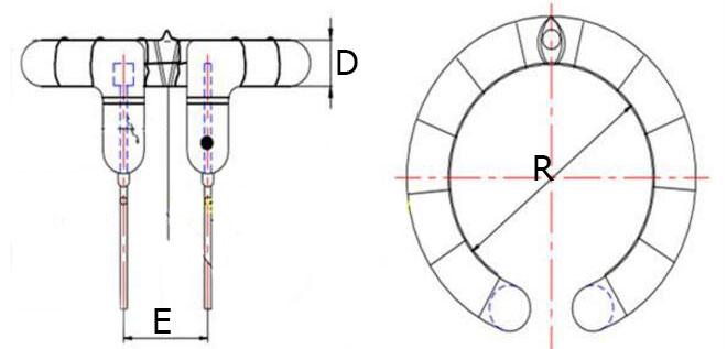 Физические размеры импульсной лампы FT-E300 для студийных фотовспышек
