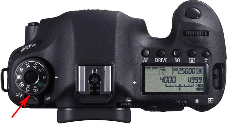 Переключатель режимов съемки с переключателем питания для зеркального фотоаппарата Canon EOS 6D