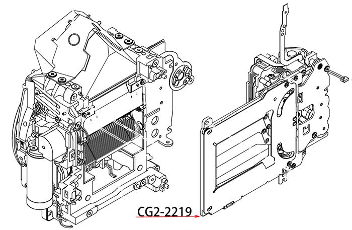 SHUTTER ASS'Y - блок затвора в сборе для зеркальных фотокамер Canon 5D mark 2
