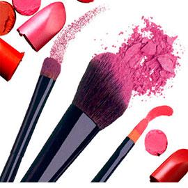 Косметика для макияжа лица, глаз, бровей и губ, а также инструменты