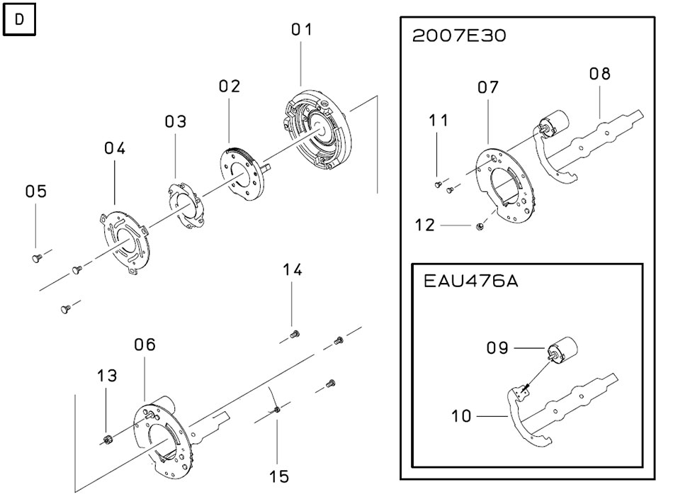 Устройство блока диафрагмы объектива Sigma 12-24mm для Canon