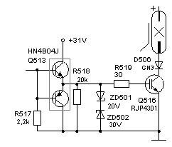 схемы управления импульсной лампой во внешней вспышке Nissin Di 866 на igbt транзисторе RJP4301