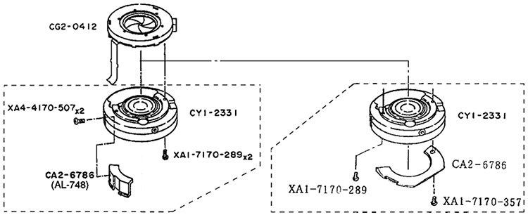 Рисунок блока диафрагмы Canon EF 20-35mm f/2.8 L и партс намбер согласно каталога запчастей