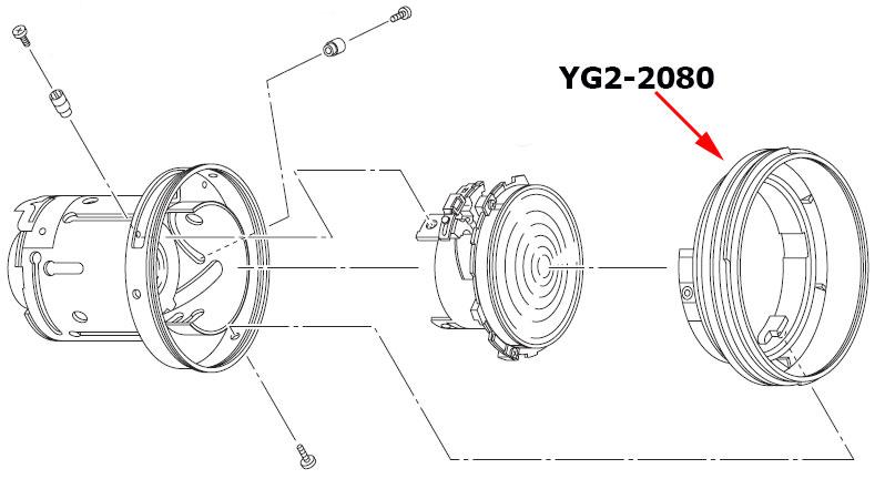 Переднее кольцо куда устанавливается светофильтр и бленда для объектива Canon EF 17-40mm