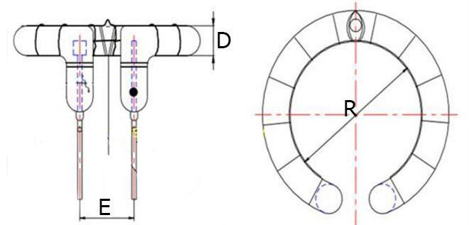 Физические размеры импульсной лампы для студийных фотовспышек 500Дж для Hensel Contra 500