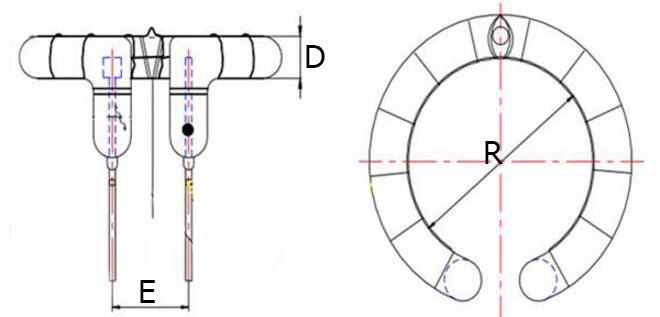 Физические размеры импульсной лампы для студийных фотовспышек