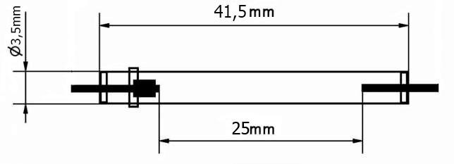 Физические размеры импульсной лампы фотовспышек Nikon SB 800, Sigma EF 500, Sigma EF 530, Yongnou YN 467