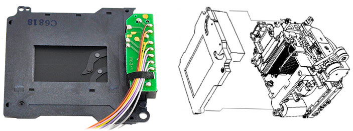 Затвор для зеркальных фотокамер Nikon D50, D70, Nikon D70: место установки и распайка проводов